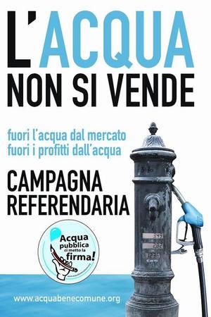 Campagna referendaria - L'acqua non si vende